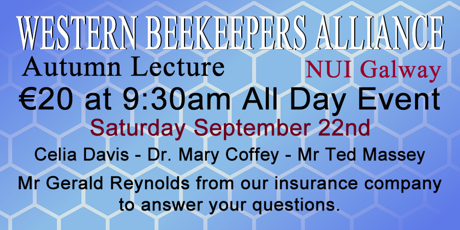 Western Beekeepers Alliance Autumn Lecture