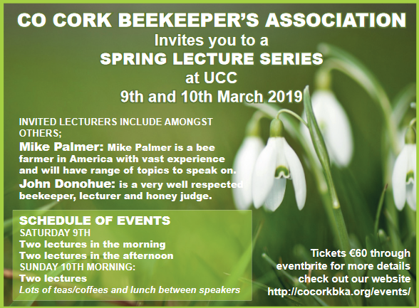 County Cork Beekeepers Spring lecture Series