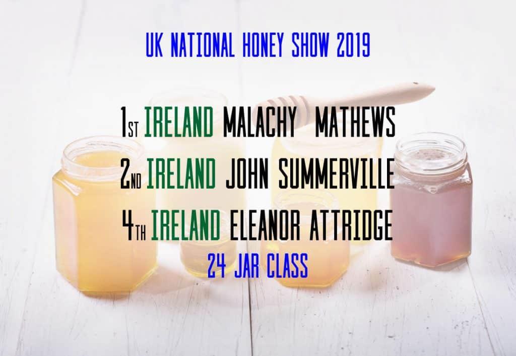 UK National Honey Show Irish Winners
