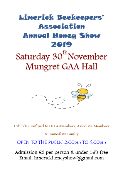 Limerick Beekeepers' Association Annual Honey Show 2019